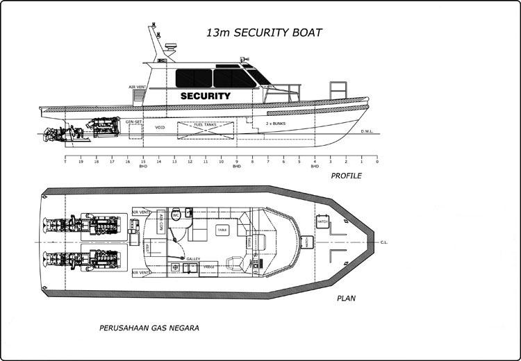 13m Jet Security Patrol Boat