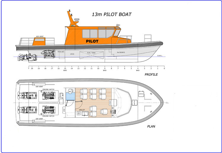 13m Pilot Jet Boat - Version B